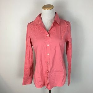 J.Crew Women's Classic Button Front Coral Shirt